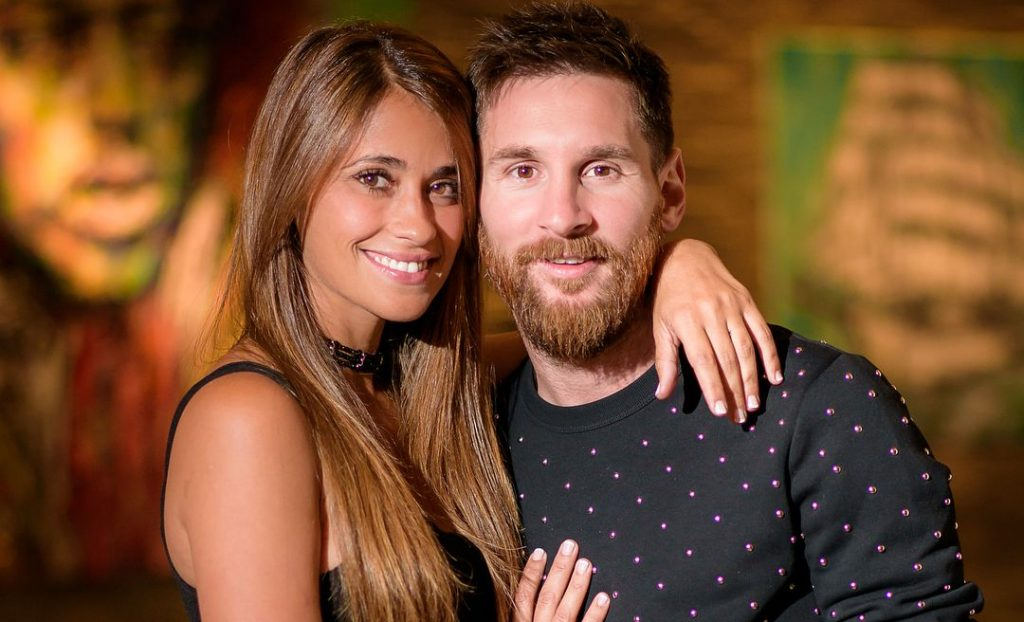 Messi and his wife